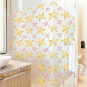 Promoção   - Adesivo Para Vidro Box Banheiro Jateado Decorado Estrelas prova D'Agua