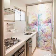 Adesivo Para Vidro Box Banheiro Jateado Decorado Jardim Prova D'Agua