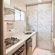 Adesivo Para Vidro Box Banheiro Jateado Decorado Terrazzo Prova D'Agua