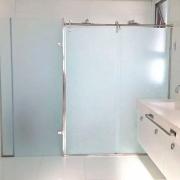 Adesivo Para Vidro Box Banheiro Jateado Metalizado 0,61m Prova D'Agua