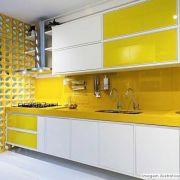 Adesivo para Vidros Transparente Amarelo 0,53m