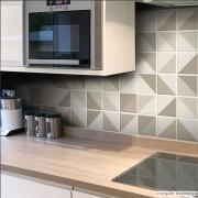 Promoção  - Adesivo Destacável Azulejo para Cozinha Retângulo Marrom 15x15cm