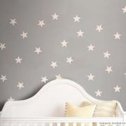 Promoção  - Adesivo Destacável Estrelas Rosa