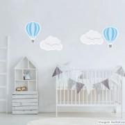 Promoção  - Adesivo Destacável Nuvens e Balões Azul