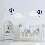 Promoção  - Adesivo Destacável Nuvens e Balões Azul Marinho