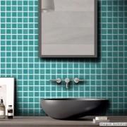 Promoção  - Adesivo Destacável Pastilha para Cozinha 3D Turquesa 10x10cm