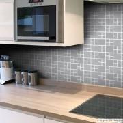 Promoção  - Adesivo Destacável Pastilha para Cozinha Big Cinza 15x15cm