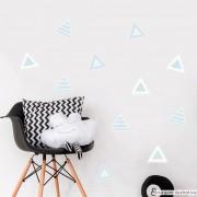 Promoção   - Adesivo Destacável Triângulos Azul
