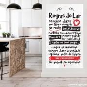 Black November - Adesivo Frase Regras do Lar