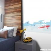 Leve 02 Pague 01! - Faixa de Parede Infantil Avião