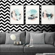 Black November  - Papel de Parede Chevron Classic Preto