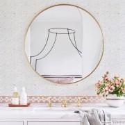 Promoção  - Papel de Parede Lavável para Banheiro Revestimento Pastilha Color
