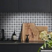 Promoção  - Papel de Parede Pastilha para Cozinha 3D Grafite