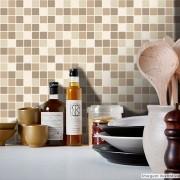 Promoção  - Papel de Parede Pastilha para Cozinha Clássica Mix Marrom