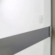 Faixa Jateada anti-impacto para vidros Fumê Escuro
