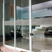 Faixa Jateada anti-impacto para vidros Linho