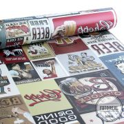Outlet - Papel de Parede Drink Beer Vintage 0,58x3,00m