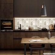 Outlet - Papel de Parede Lavavel para Cozinha Revestimento Azulejo Coimbra 0,58x0,79m