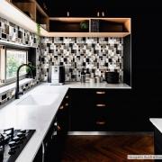 Outlet - Papel de Parede Lavavel para Cozinha Revestimento Fosco Metálico Mosaico Escovado Verde