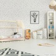 Outlet - Papel de Parede Minimalista Confete Cinza 0,58x2,40m