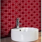 Outlet- Papel de Parede Pastilha 3D BIG Vermelho 0,54x3,00m