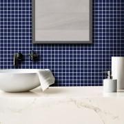 Outlet - Papel de Parede Pastilhas Azul Marinho 0,58 x 2,00m