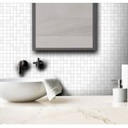 Outlet - Papel de Parede Pastilhas Mix Branco 0,58 x 2,00m