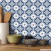 Papel de Parede Azulejo para Cozinha Blanes - Várias Cores