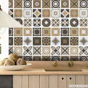 Papel de Parede Azulejo para Cozinha Bragança - Várias Cores