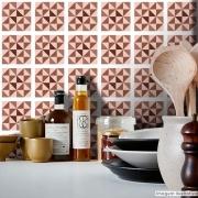 Papel de Parede Azulejo para Cozinha Delta - Várias Cores