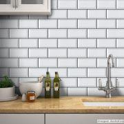 Papel de Parede Azulejo para Cozinha Metrô - Várias Cores