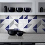 Papel de Parede Azulejo para Cozinha Retângulo - Várias Cores
