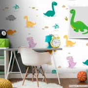 Papel de Parede Dinossauros - Várias Cores