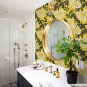 Papel de Parede Floral Girassol Amarelo