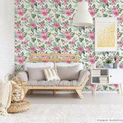 Papel de Parede Floral Hibisco
