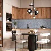 Papel de Parede Lavavel para Banheiro Cozinha Revestimento Brilho Pedra Cinza Nobre