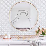 Papel de Parede Lavavel para Banheiro Cozinha Revestimento Fosco 3D Division