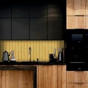 Outlet - Papel de Parede Lavavel para Cozinha Revestimento Fosco Madeira Riga Nova 0,58x2,65m