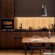 Papel de Parede Lavavel para Banheiro Cozinha Revestimento Fosco Madeira Cambará
