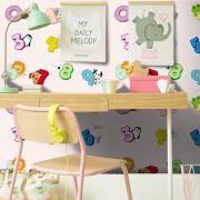 Promoção  - Papel de Parede Infantil Números Rosa