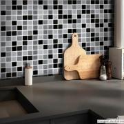 Papel de Parede Pastilha para Cozinha 3D Mix - Várias Cores