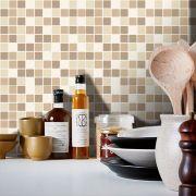 Queima de Estoque - Papel de Parede Pastilha para Cozinha Clássica Mix Várias Cores
