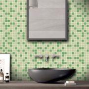 Outlet - Papel de Parede Pastilhas para Cozinha Clássica Mix Verde Claro 0,58 x 2,00m