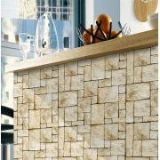 Promoção - Papel de Parede Pedra Mosaico - Kit 02 rolos
