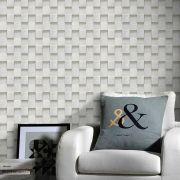 Promoção  - Papel de Parede Pedra Mosaico Paris - Kit 02 rolos