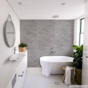 Papel de Parede Lavavel para Banheiro Cozinha Revestimento Fosco Concreto