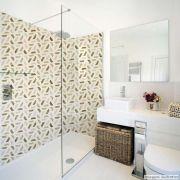 Papel de Parede Lavavel para Banheiro Cozinha Revestimento Fosco Madeira Geométrico