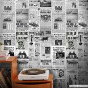 Papel de Parede Vintage Jornal