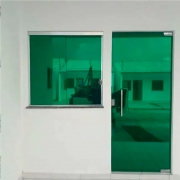 Película Solar Espelhado Verde 0,50m