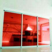 Película Solar Espelhado Vermelho 1,52m